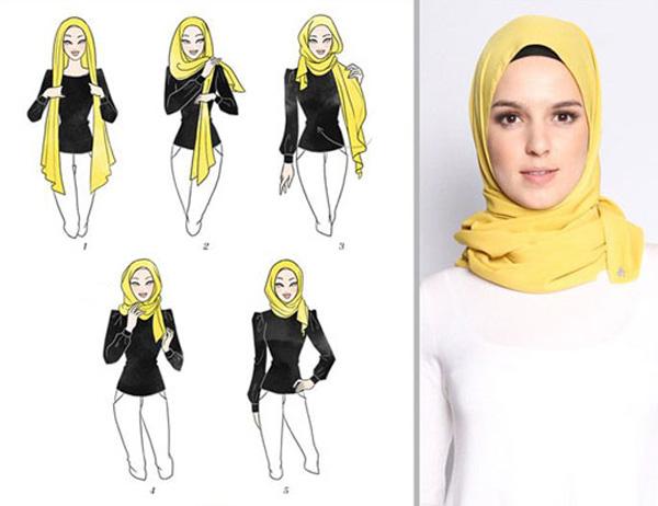 آموزش بستن شال و روسری لبنانی